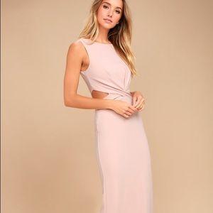 New Lulu's Trista Blush Cutout Maxi Dress
